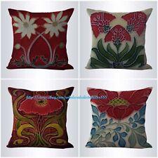 US SELLER-4pcs wholesale decorative pillow cushion covers art nouveau flower