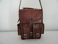 "Real Leather Backpack Convertible 13"" Macbook Rucksack Shoulder Messenger Bag"