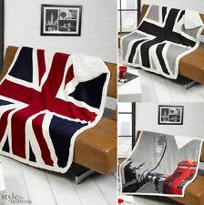 британский Юнион Джек или Лондон Биг Бен дизайн диван / кровати флисовый плед и одеяло