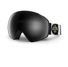 NEW Von Zipper Jetpack Goggles-BWO Black White-Chrome+Yellow-SAME DAY SHIPPING!