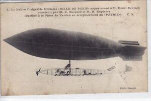 La Ville de Paris Airship France Photo Postcard VERY RARE