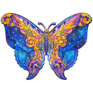 Wooden Jigsaw Puzzles Butterfly Animal Shape Adult Kid Child Toy Gift Home Decor