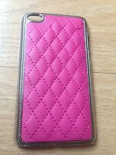 New Pink Hard Leather Case Cover & LCD Protector For iPod Touch 4G 4th Gen