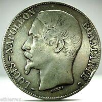 FRANCE (Napoleon III) 5 Francs 1852 A,Parigi