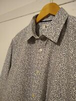 Men's Never Worn BODEN Long Sleeve Floral Shirt. Slim Fit Large. White/Dark Blue