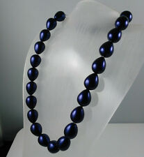 enchantment style 16mm southsea shell pearl Peacock Blue women's necklace 18""