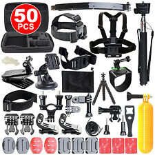 50in1 Accessories Pack Case Chest Head Monopod For GoPro Go pro HD Hero 4 3+ 3 2