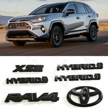 6PCS RAV4 XSE BLACKOUT EMBLEM OVERLAY KIT GEN Fit For 2019-2021 TOYOTA RAV4