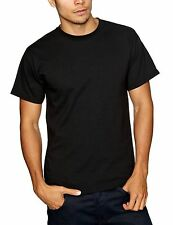 FRUIT OF THE LOOM TWIN PACK HEAVY WEIGHT  PLAIN BLACK T SHIRT TEE SHIRT