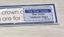 The Blue Series - Matching Sentences Strips (24 strips) Montessori