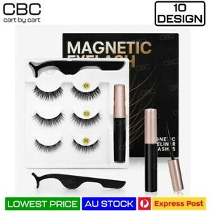 Magnetic Eyelashes False Natural Mink Faux Fake Extension Liquid Eyeliner Tweeze