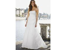 NICHOLAS MILLINGTON Sunray Satin Wedding Dress Size 12 (DEFECT)