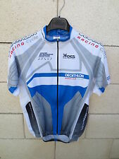 Maillot cycliste DECATHLON RACING CYCLE DES gris bleu M