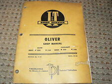 Oliver Tractor 2050 2150 Tractor I&T Shop Manual