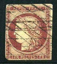 FRANCE N° 6  1F  CARMIN  FONCE  OBLITERE , A VOIR.