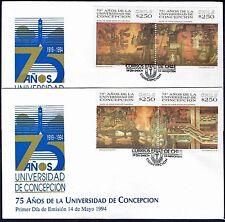CHILE FDC COVER 1994 # 1671/4 ART CONCEPCION UNIVERSITY