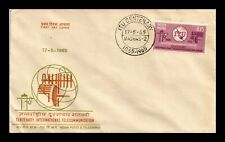 DR JIM STAMPS CENTENARY INTERNATIONAL TELECOMMUNICATION FDC INDIA COVER