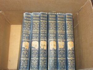 1898 Book War and Peace By Tolstoi Tolstoy Vol. 1 thru 6..Illistrated