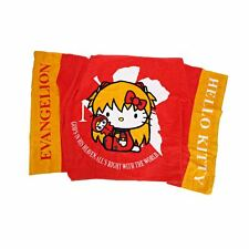 Evangelion X Hello Kitty Bath Towel Red Asuka Ver