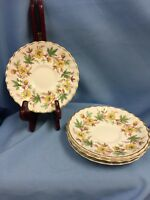 """Lot Of 4 VTG Royal Doulton Chatsworth Pattern, Saucers 5.75"""" Excellent!"""