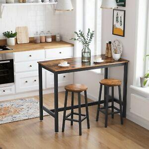 Retro Breakfast Table Bar Table Kitchen Dining Table Wood Metal Legs LBT91X