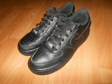 Nike Air Force 1 Low Boys Black Leather Trainer, Size 5.5