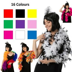 Thick Feather Boa Costume Fancy Dress Flapper 1920s Accessories Garland 85 Gram