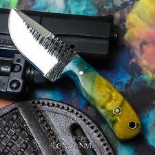 ALONZO KNIVES USA CUSTOM HANDMADE TACTICAL NECK 1095  KNIFE CORELON HANDLE 17350