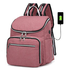 Large Mummy Diaper Bag Baby Nappy USB Port Travel Backpack Makeup Cosmetic Bag