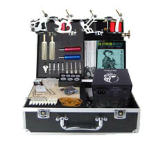 High Complete Tattoo Equipment Set New 4 Machines Power Grip Body Tattooing Art