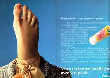 Publicité Advertising 018  1982  Dr Scholl  (2p) creme à gommer cosmétiques pied