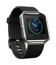 Fitbit Blaze Smart Fitness Watch - Brown Band - Stainless Frame - LARGE - no box