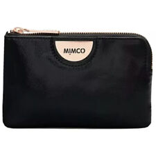 MIMCO Echo Black Pouch Leather Wallet Purse Clutch BNWT Rose gold Authentic NEW