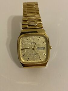 Men' ARMITRON Golden Quartz Textured Dial  Gold Tone Plated Watch 20/2122-3 2105