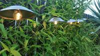 10x Solar Powered Retro Bulb String Lights For Garden Outdoor Fairy Summer Lamp