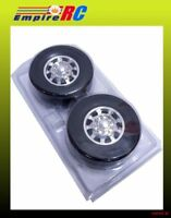 TOPCAD 15426 Alloy Front Wheel & Tire Set For Tamiya 3-Axle Reefer Semi Trailer