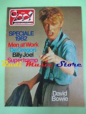 rivista CIAO 2001 2/1983 David Bowie Billy joel De Gregori Supertramp  No cd