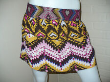 NWT O'NEILL VINTAGE TRIBAL AZTEC ETHNIC SKIRT CHIFFON BOHO RETRO ABSTRACT 3 S