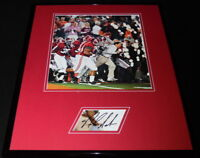Coach Nick Saban Signed Framed 16x20 Photo Set Alabama Taking the Field