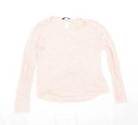 Massimo Dutti Womens Size L Linen Pink Top (Regular)
