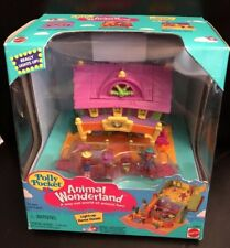 Polly Pocket Horse Light Up House Animal Wonderland 1995 Mattel Bluebird NEW