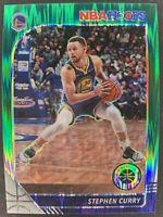 STEPHEN CURRY 2019 NBA HOOPS PREMIUM STOCK HOBBY GREEN FLASH PRIZM SSP #44/99 🔥