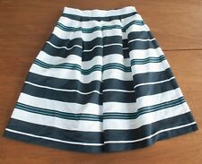 New York & Company NWT Women's Size 6 Striped Pleated Navy White Nautical Skirt