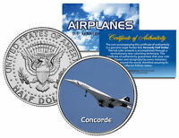 CONCORDE * Airplane Series * JFK Kennedy Half Dollar Colorized US Coin