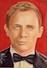 ACEO Daniel Craig James Bond 007 Casino Royale Original Painting Sketch Card