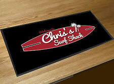 Personalised Surf Shack Beach bar runner home bar counter mat