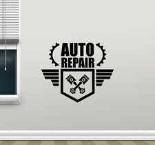 Auto Repair Wall Decal Car Service Logo Garage Shop Vinyl Sticker Mural 195crt