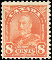 1930 Mint NH Canada F+ Scott #172 8c King George V Arch/Leaf Stamp