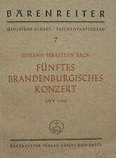 J. S. Bach: Fünftes Brandenburgisches. Konzert, Taschenpartitur, gebr.