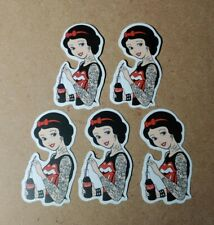 Disney Stickers - Lot of 5 - Snow White with Tattoos